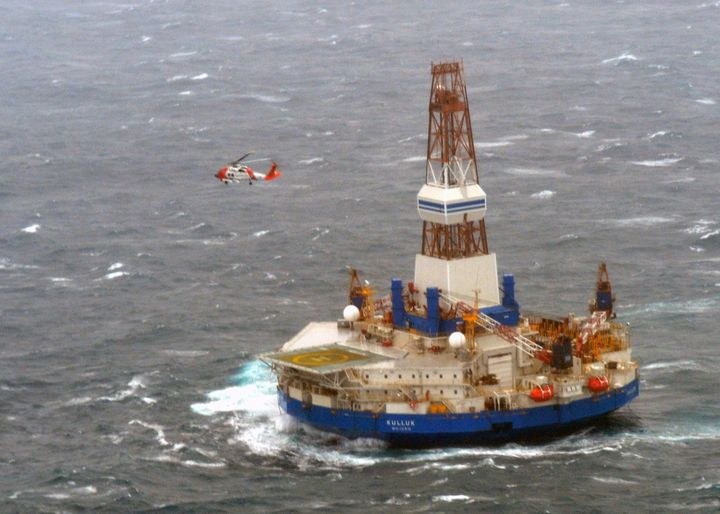 In 2012, Shell Oil Company's Kulluk drill rig drifted aground off Sitkalidak Island in the Gulf of Alaska after towing l