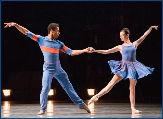 Daniel Deivison-Oliveira and Elizabeth Powell  in Millepied's <em>The Chairman Dances</em>.