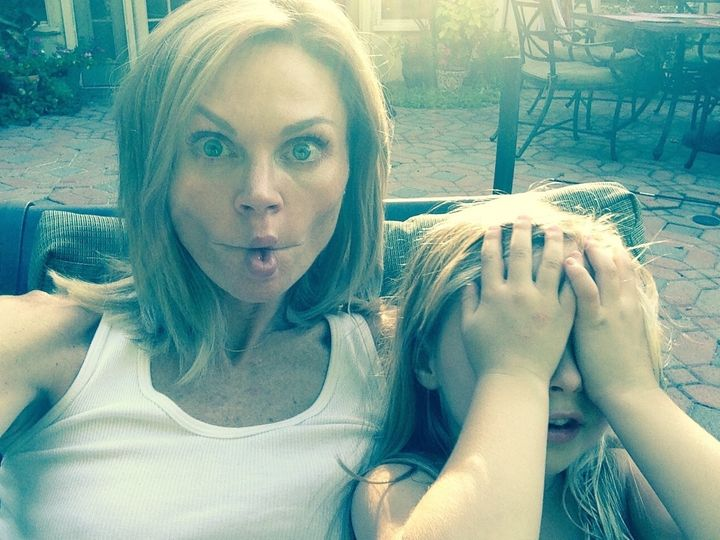 <p>My daughter and me sharing a silly moment.</p>