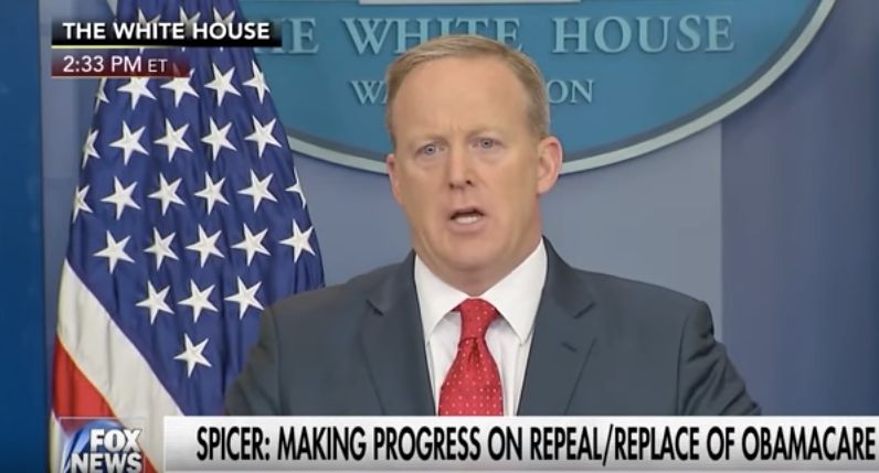 Sean Spicer Responds To Jimmy Kimmel's Emotional Plea With Lame GOP Talking