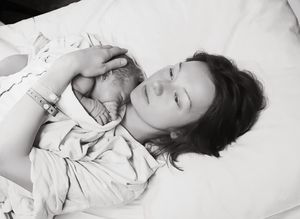 Female White Woman Born Mom Motherhood