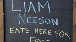 Sandwich Shop Leaves Sign Out Inviting Liam Neeson To Dine For Free - Guess Who Turns