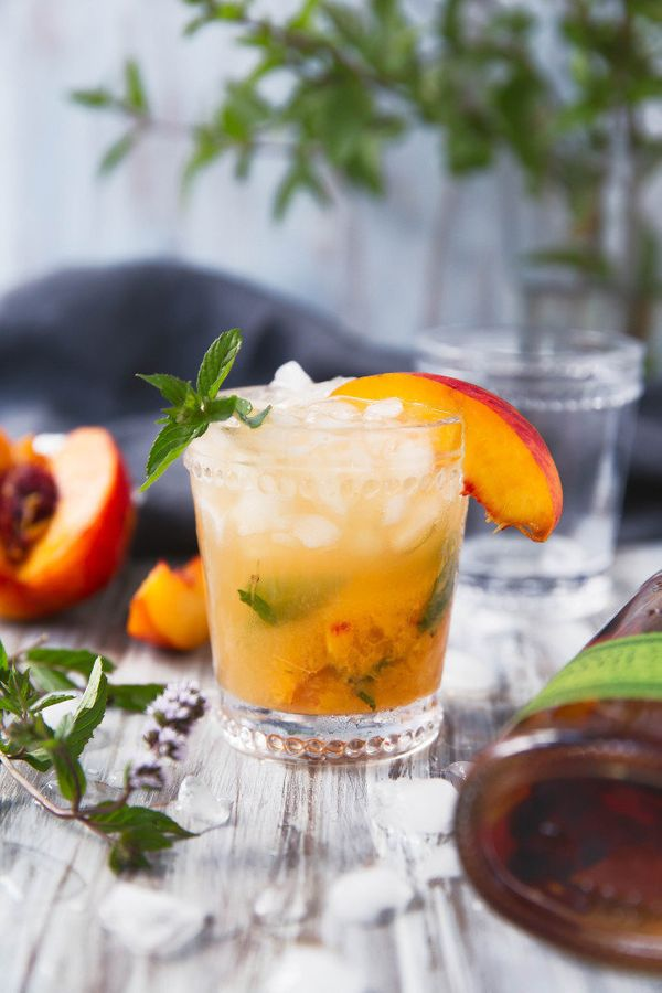 """<strong>Get the <a href=""""http://bromabakery.com/2015/08/peach-julep.html"""" target=""""_blank"""">Peach Julep recipe</a>from Br"""