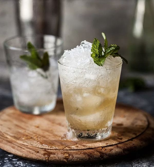 """<strong>Get the <a href=""""http://drizzleanddip.com/2014/09/05/pineapple-and-ginger-mint-julip"""" target=""""_blank"""">Pineapple And G"""