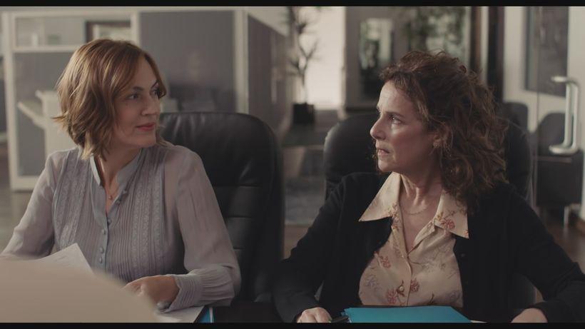 Lesley Fera is onto Debra Winger who is in mortal fear of being caught.