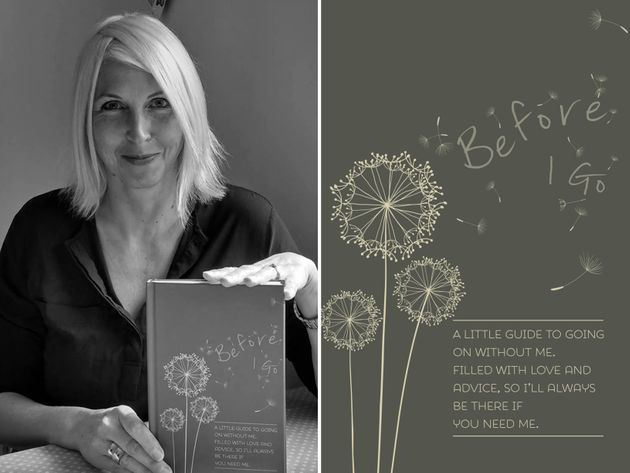 Verna and the cover of her book, 'Before I