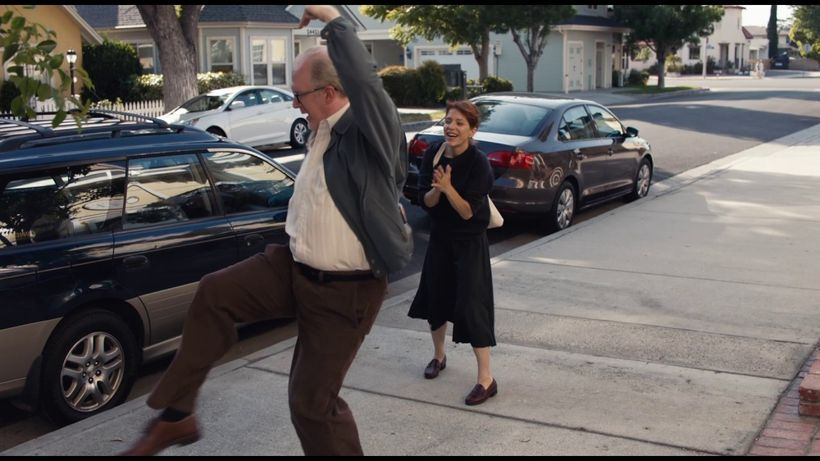 <em>Tracy Letts and Melora Walters dancing in the street as new lovers do.  </em>