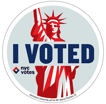 """""""My sticker design is bold, iconic, and highly recognizable, so New Yorkers can spread a feeling of pride and belonging after"""