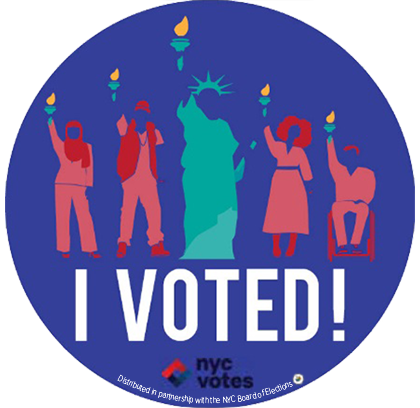 """No matter what shape, size, or color, New Yorkers vote with liberty and justice for all."" -<a href=""https://www.lil-icon.com"