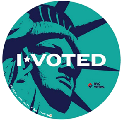 """""""I wanted to capture the bold spirit of New York and the pride New Yorkers feel after they vote."""" -<a href=""""http://danielamas"""