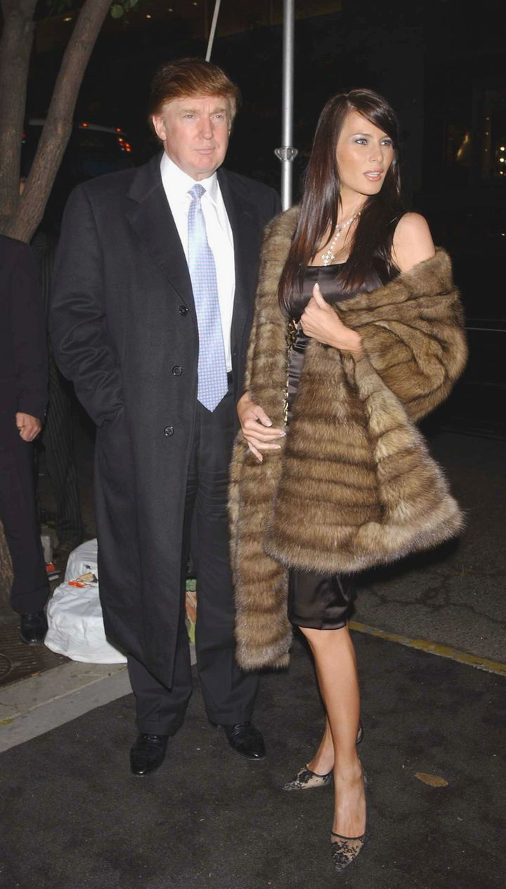 At the opening of the Dennis Basso Furs flagship store in New York City.