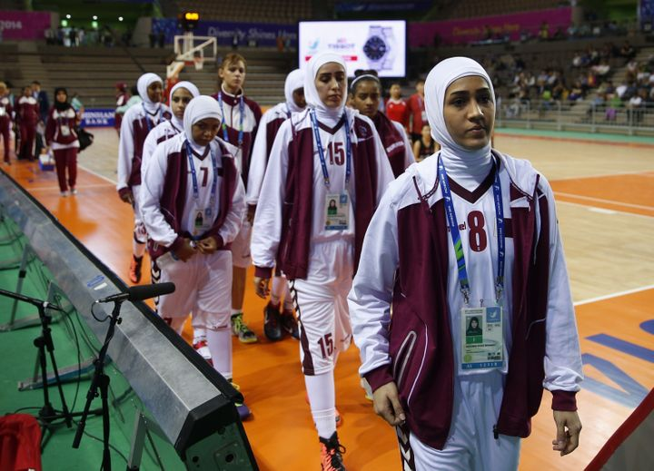 Qatar's women's basketball team walked off the court at the 2014 Asian Games after FIBA refused to allow players to wear hija