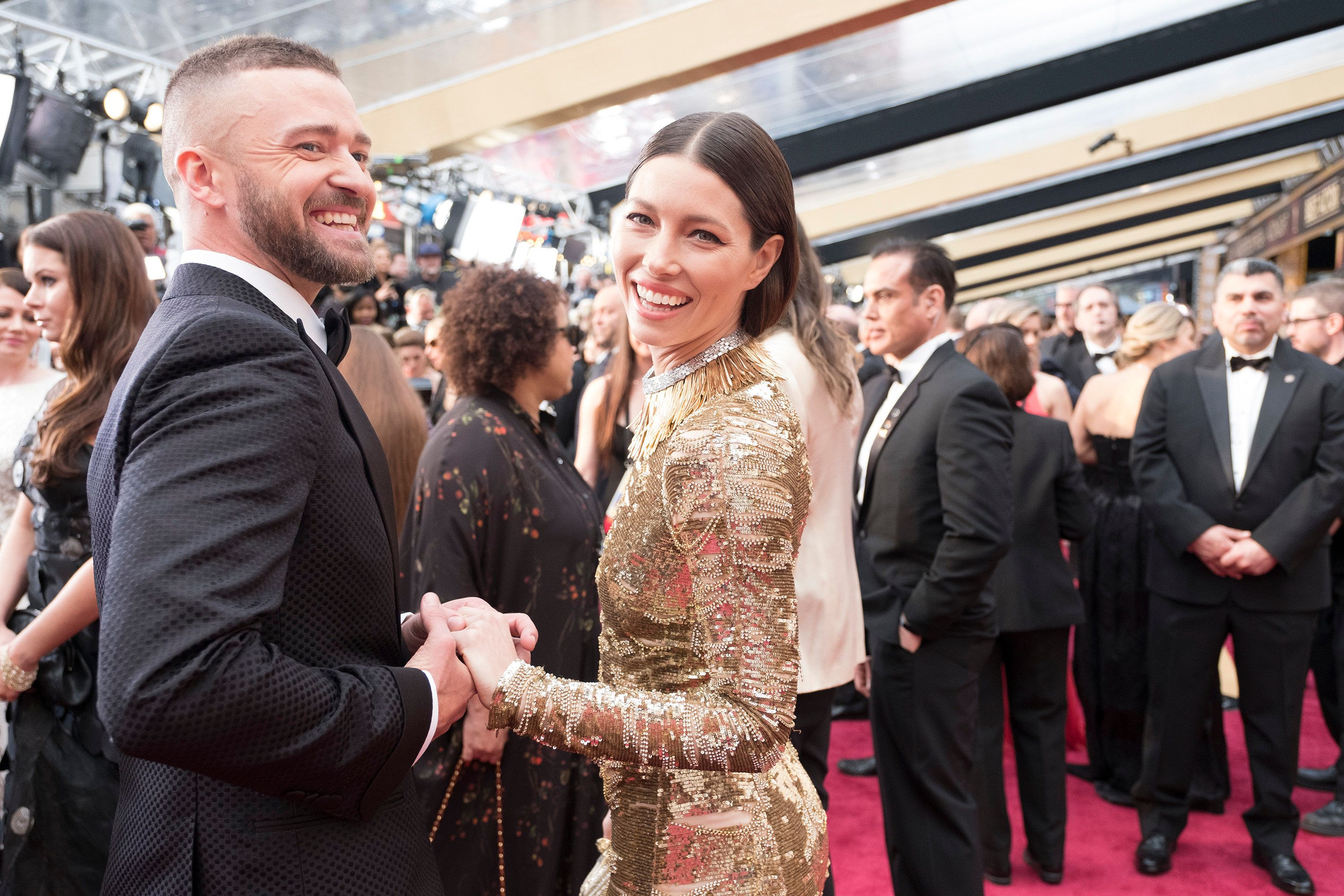 THE OSCARS(r) - The 89th Oscars(r)  broadcasts live on Oscar(r) SUNDAY, FEBRUARY 26, 2017, on the ABC Television Network. (Adam Rose/ABC via Getty Images) JUSTIN TIMBERLAKE, JESSICA BIEL