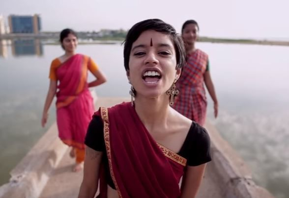A still from a viral parody music video pressuring Unilever to pay compensation to 591 victims of mercury poisoning.