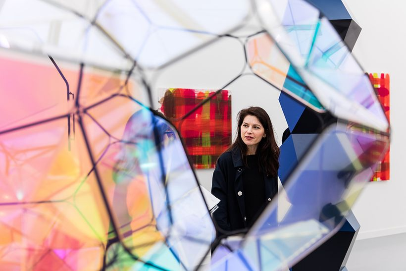 Esther Schipper at Frieze New York 2016. Courtesy Mark Blower and Frieze. Photo: Mark Blower.