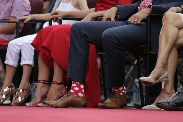 Justin Trudeau Wore 'Star Wars' Socks To Meet Ireland's Prime