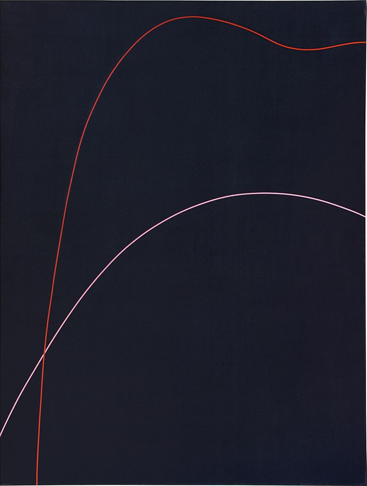 Virginia Jaramillo, <em>Untitled</em>, 1971, acrylic on canvas, 95 7/8 x 71 7/8 inches (243.5 x 182.7 cm). © the Artist. Cour