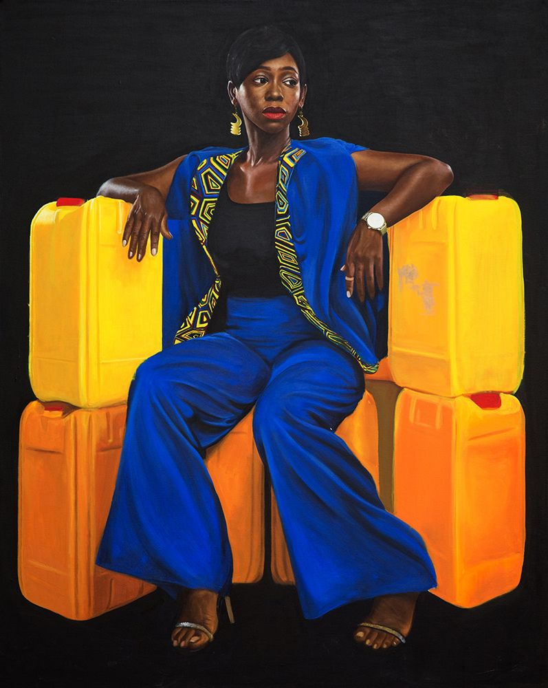 Jeremiah Quarshie, <em>&#39;Ama K.&#39;. Yellow is the Colour of Water,</em> 2016, acrylic on canvas, 152cm x 121cm. Courtesy