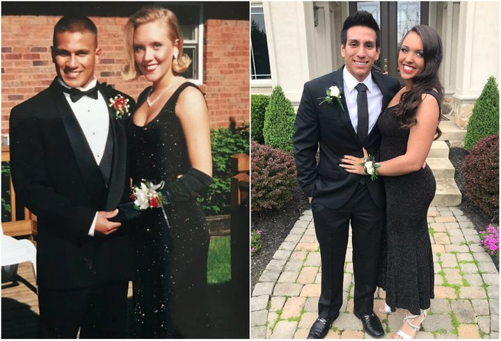 Lori Johnson and her daughter, Ally Johnson, wore the same dress to prom, 22 years apart.