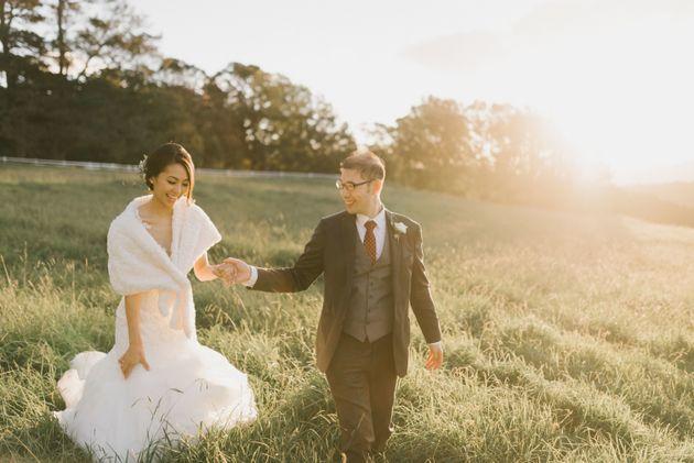 Roslyn and Adrian on their wedding