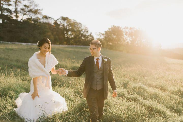 Roslyn et Adrian le jour de leur mariage (James Day Photography)