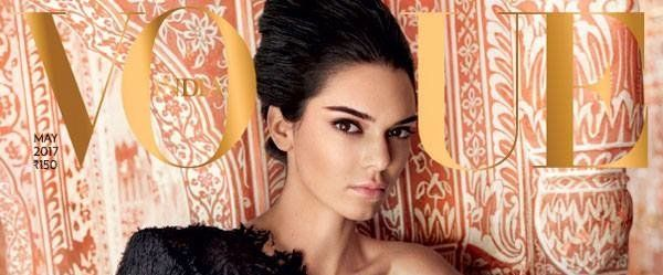 Kendall Jenner was featured on Vogue India's 10th anniversary cover.