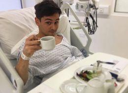 Tom Daley Shares Hospital Snap, Days Before Rumoured Wedding