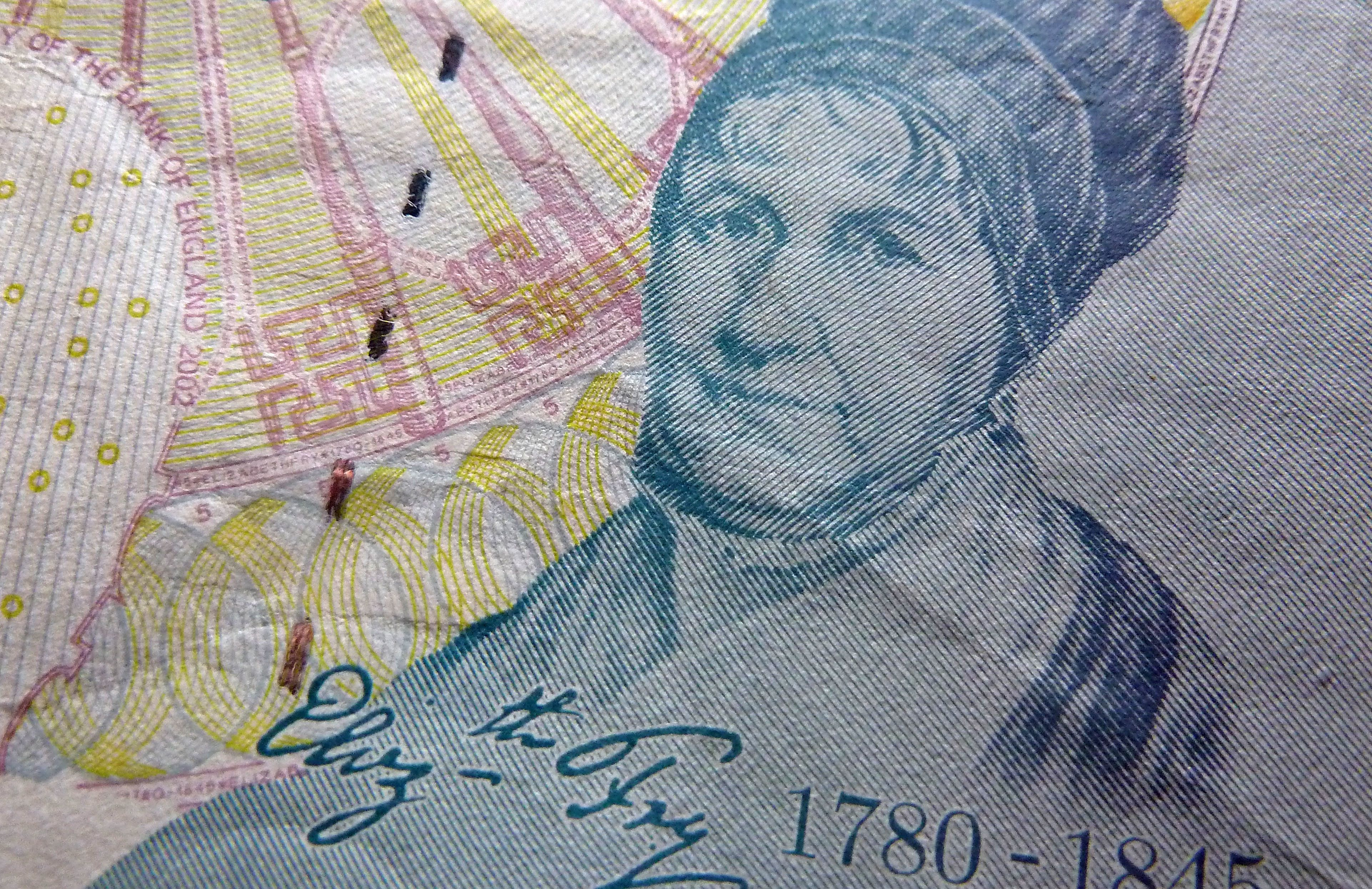 The old-style £5 note featuring Elizabeth Fry goes out of circulation on 5