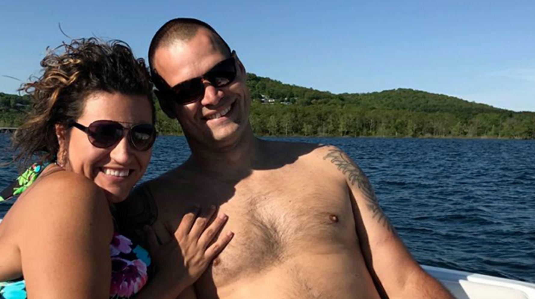 Couple's Holiday Photo Creates A Hilariously Rude Optical Illusion