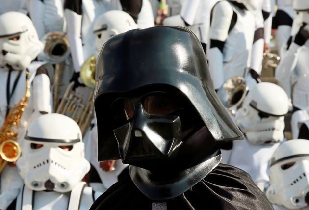 A school was evacuated after a teen arrived in a Darth Vader