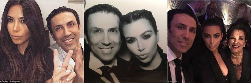 Dr. Simon Ourian with the Kardashian family