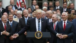 Rich White Men Celebrate After Voting To Strip Healthcare From Millions Of Sick