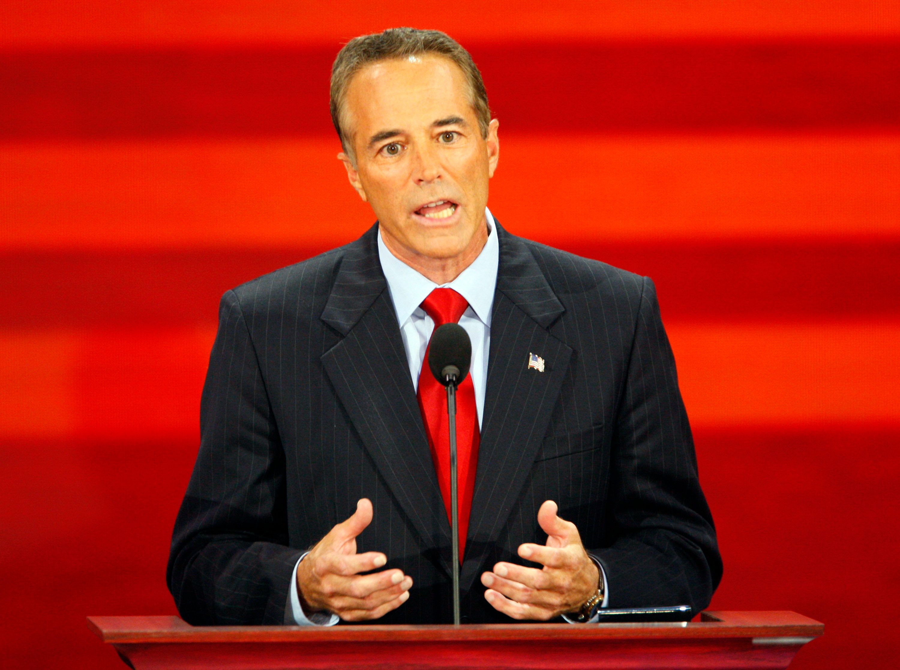 County Executive Chris Collins, from Erie County, New York, speaks during the Republican National Convention at the Xcel Energy Center in St. Paul, Minnesota, Wednesday, September 3, 2008.  (Photo by Harry E. Walker/MCT/MCT via Getty Images)