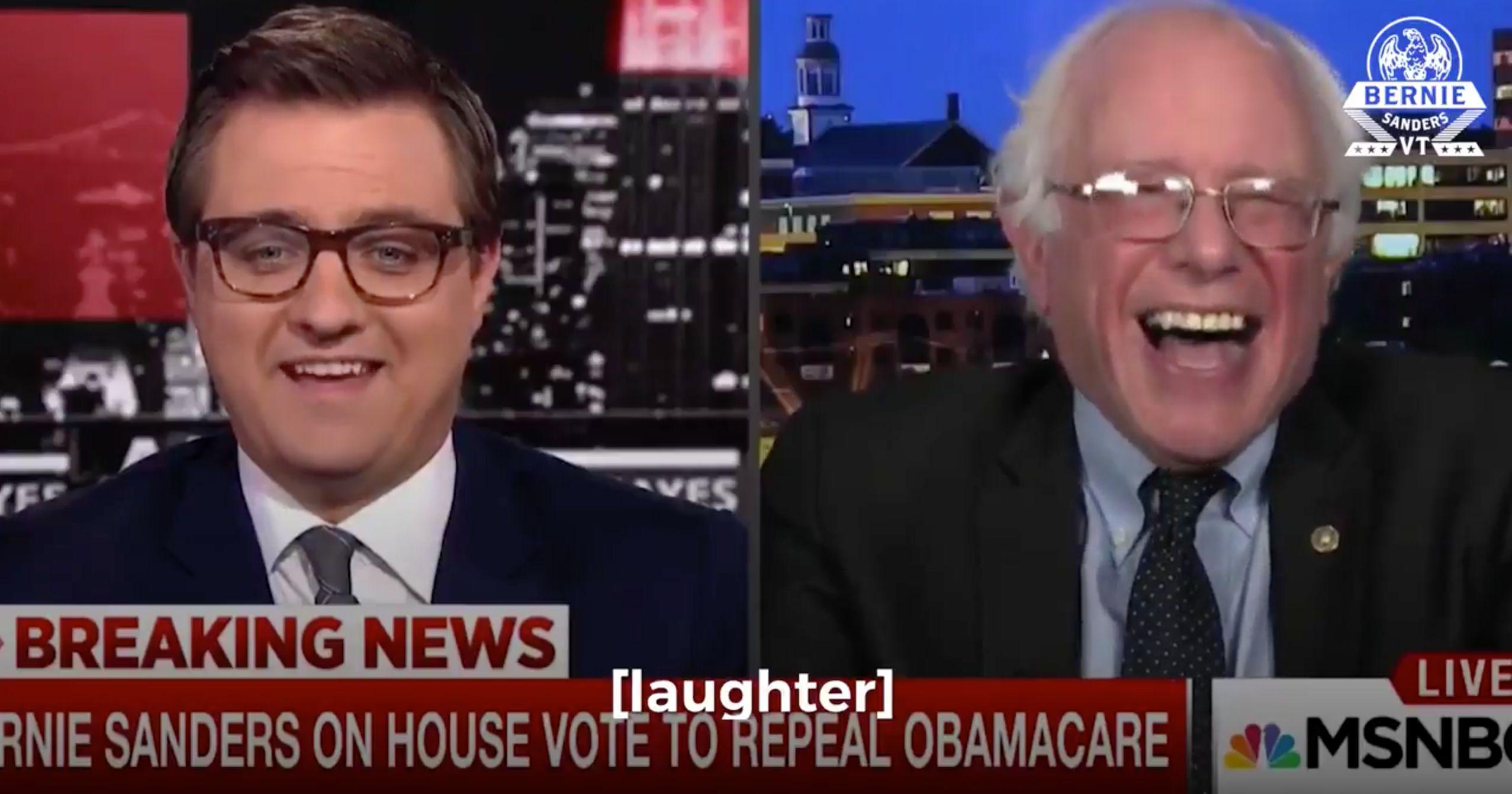 Bernie Sanders Mocks Donald Trump For Making Awkward Health Care