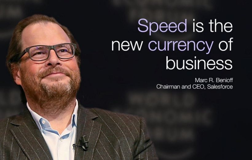 Speed is the new currency of business. — Marc Benioff, CEO Salesforce