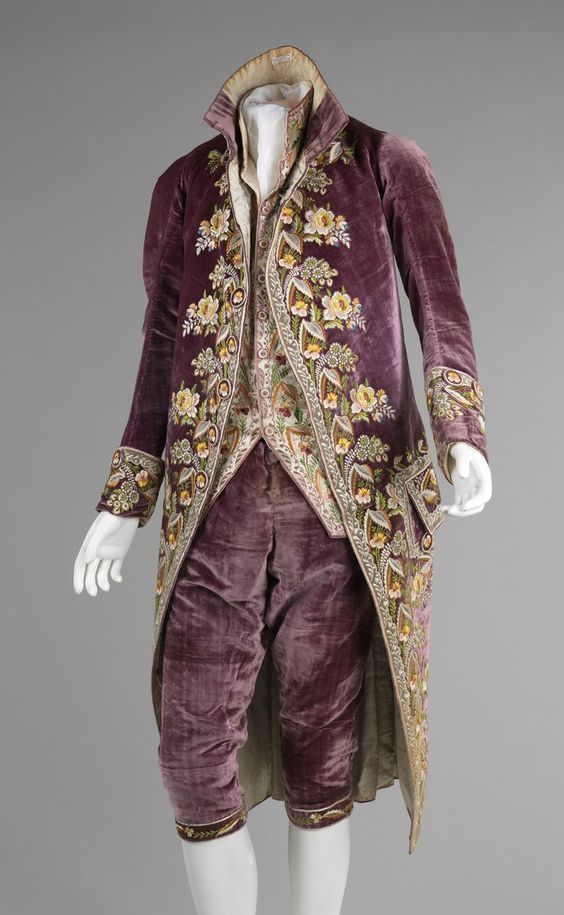 Mid-18th Century French men's suit