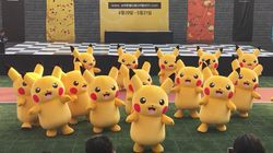 Men In Suits Crash A Pikachu Dance And Brutally Drag The Weakest One