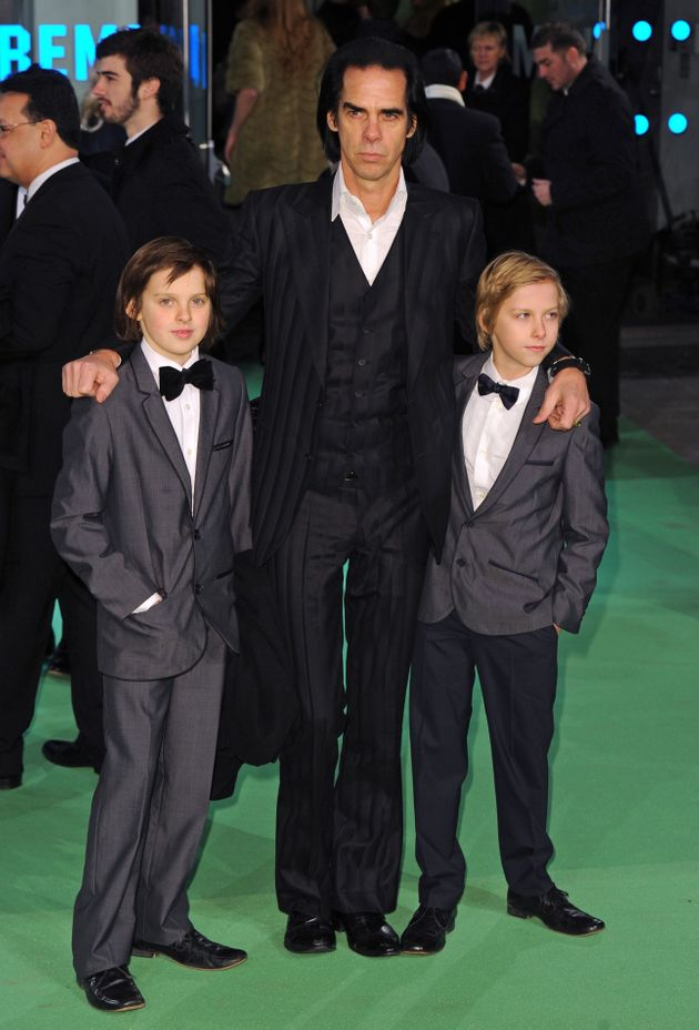 Nick with Arthur and Earl at a 2012 film