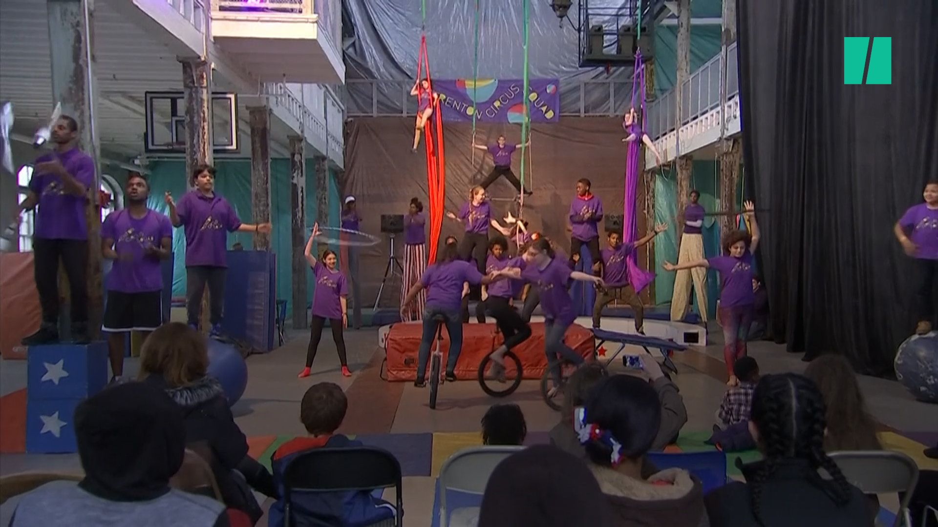 A youth circus program in Trenton New Jersey is bringing kids together from all walks of life and helping empower them