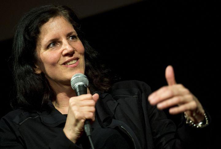 U.S. documentary filmmaker Laura Poitras speaks during an interview at the International Documentary Film Festival in Amsterd