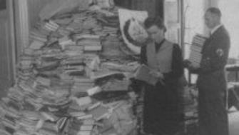 ERR Main Nazi Agency Responsible for Looting sorting books in the Baltic states
