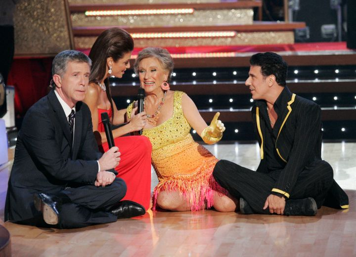 "Leachman appears on ""Dancing with the Stars."""