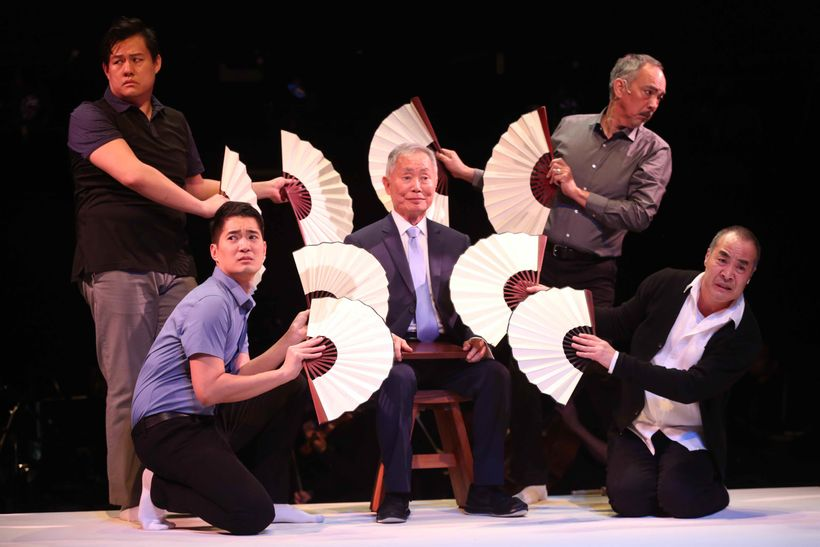 "Kelvin Moon Loh, Austin Ku, George Takei, Marc Oka and Thom Sesma in CSC's ""Pacific Overtures"""
