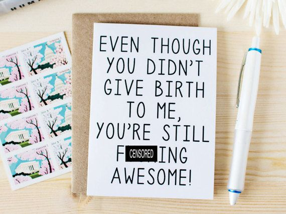 "<i>Buy it from <a href=""https://www.etsy.com/listing/231624988/funny-mothers-day-card-funny-stepmom"" target=""_blank"">HonestAF"