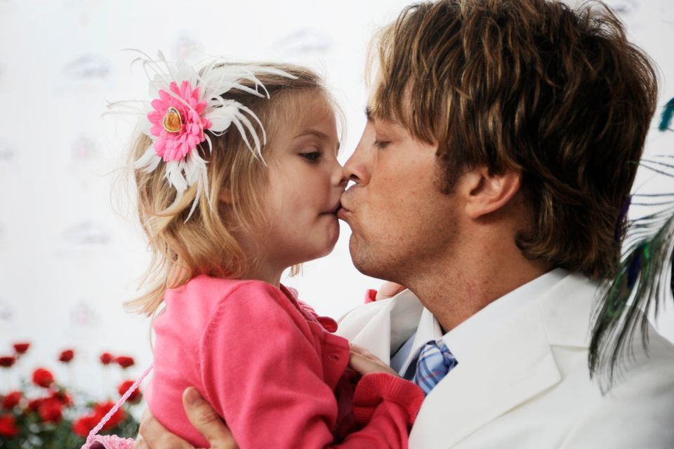 Larry Birkhead and daughter Dannielynn attends the 136th Kentucky Derby on May 1, 2010 in Louisville, Kentucky. (Photo by Jef