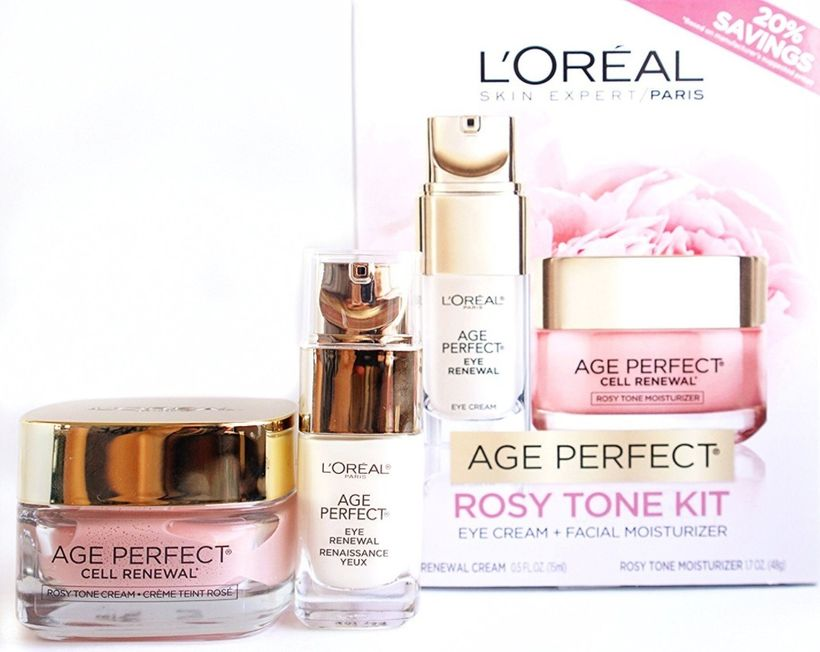 "<strong>Age Perfect Re-Awakening Rosy Tone Kit </strong>from <a rel=""nofollow"" href=""https://www.lorealparisusa.com/products/"