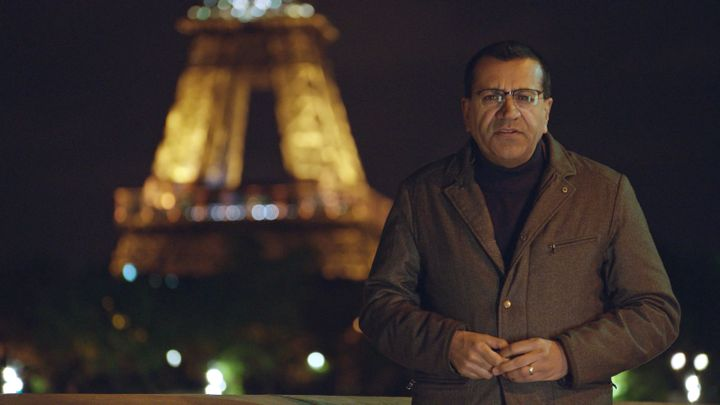 Martin Bashir and the Eiffel Tower.