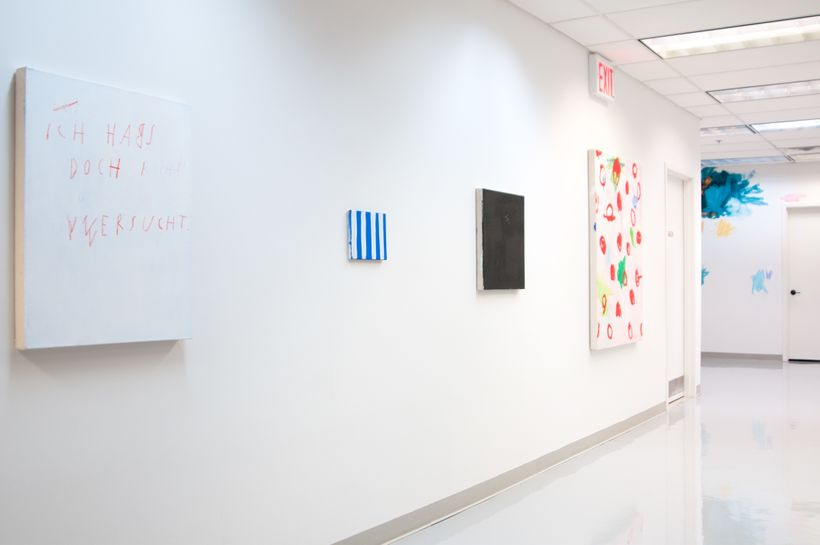 Installation view, but what about me? curated by Alex Maldonado Projects, CoLab-Factory, 14 DeKalb Ave Fl 3, Brooklyn