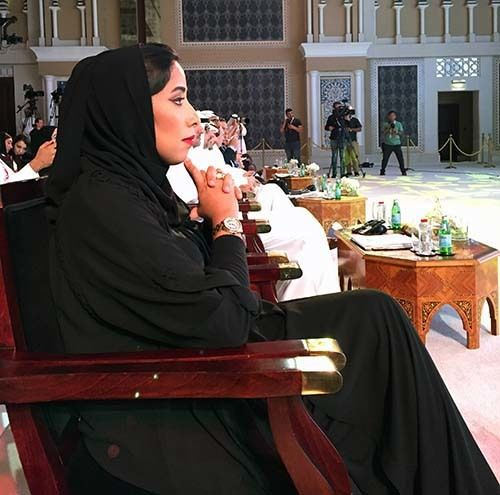 <p><em>Dubai Press Club President Mona Al Marri (Abu-Fadil)</em></p>