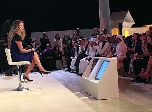 <p><em>Al Arabiya's Rima Maktabi faces the challenge head-on (Abu-Fadil)</em></p>